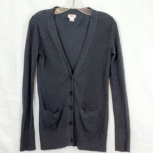 Mossimo Supply Co Grey Cardigan Button Up V-neck